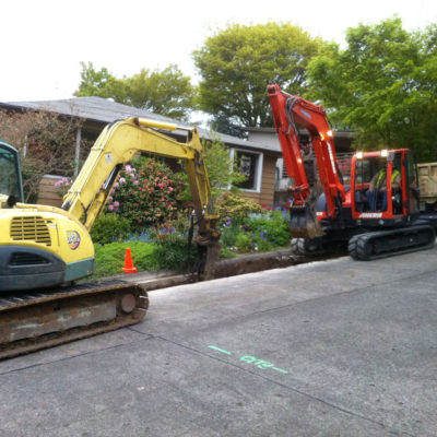 rock hammering for sewer main