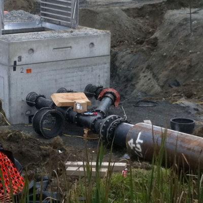 sewer lift station manifold vault
